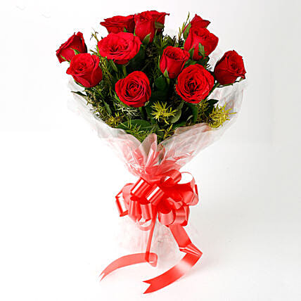 Impressive Charm- Bouquet of 10 Red Roses: Send Gifts to Khandwa