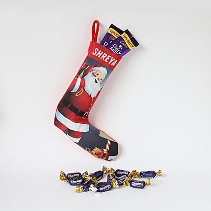 Personalised Smiling Santa Stocking: Secret Santa Gifts