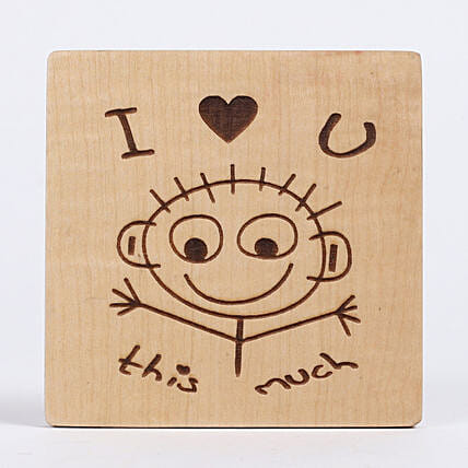 Engraved I Love You Table Top: Table tops