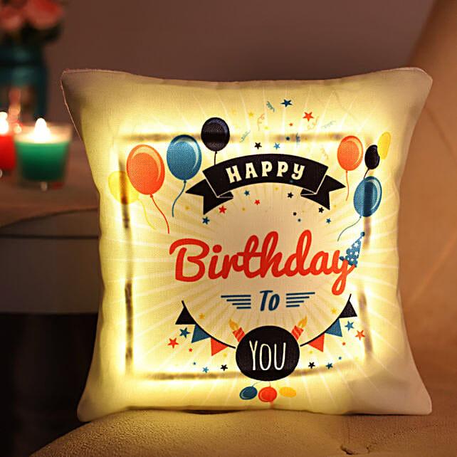 Happy Birthday LED Cushion: Birthday All Gifts