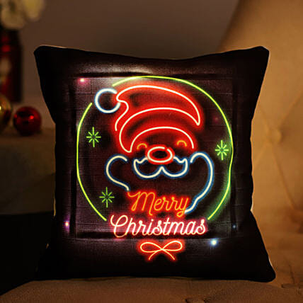 Merry Christmas LED Cushion: Gift Delivery in Sidhi