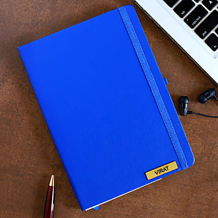 Personalized Blue Notebook: