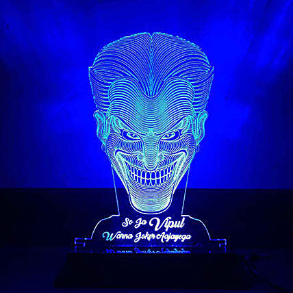 Personalised Blue LED Joker Lamp: Halloween Gifts