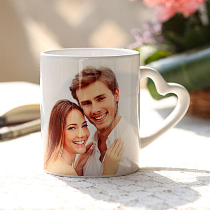 V-Day Special Personalised Mug: Custom Photo Coffee Mugs