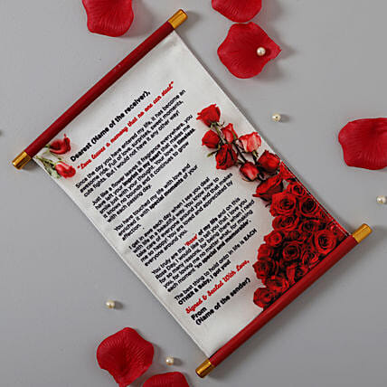 Rose Day Message Canvas Scroll: Send Unique Gifts