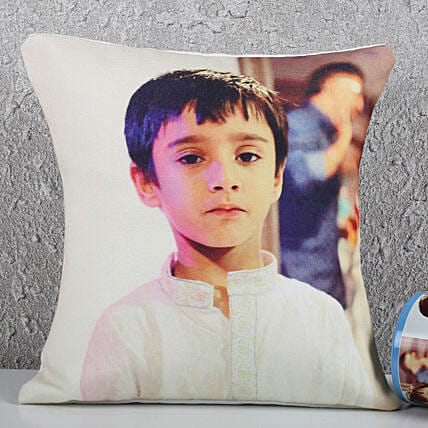 Adorable Personalised Recron Cushion: Children's Day Gifts