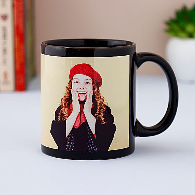 Black Photo Mug Personalized: Custom Photo Coffee Mugs