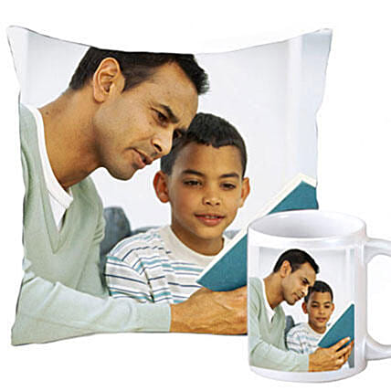 Personalised Cushion & Mug Combo: Personalised Gift Combos For Father's Day