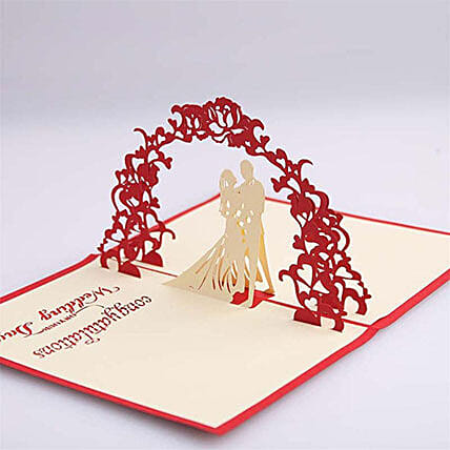 Congratulatory Wedding Pop Up Card: Greeting Cards