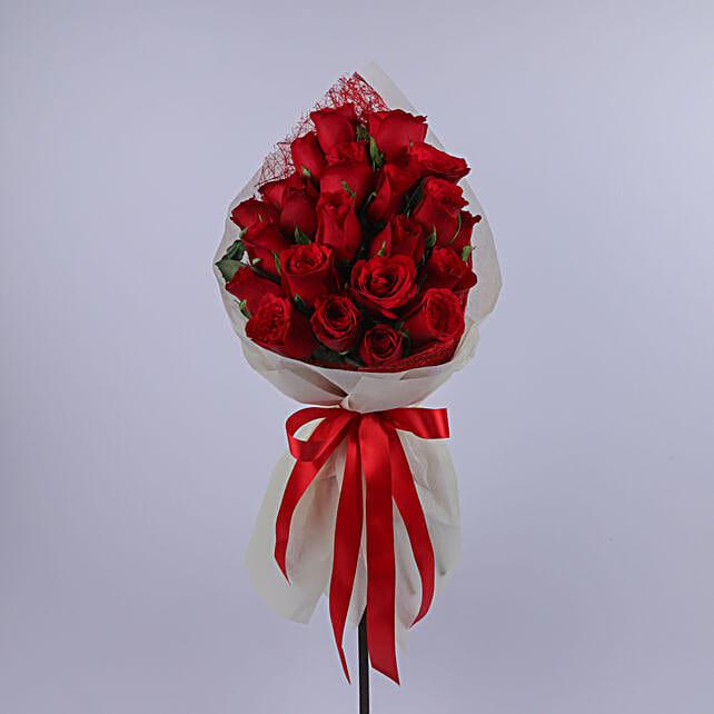 Valentine Special 20 Roses Bouquet: