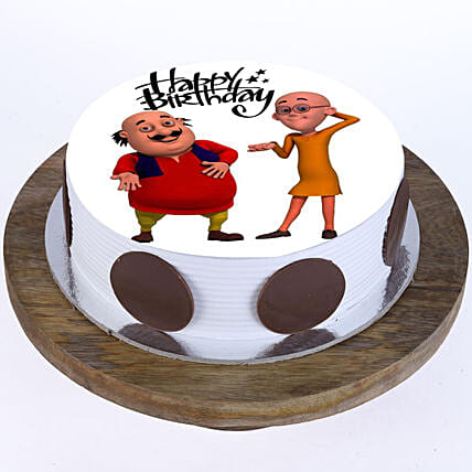 Motu Patlu Cake: Send Red Velvet Cakes to Delhi