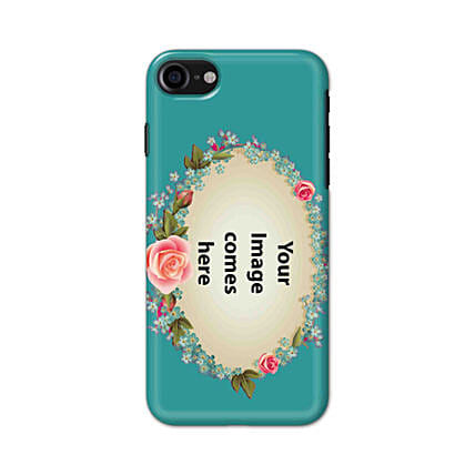 Apple iPhone 8 Customised Floral Mobile Case: Personalised Apple Mobile Covers