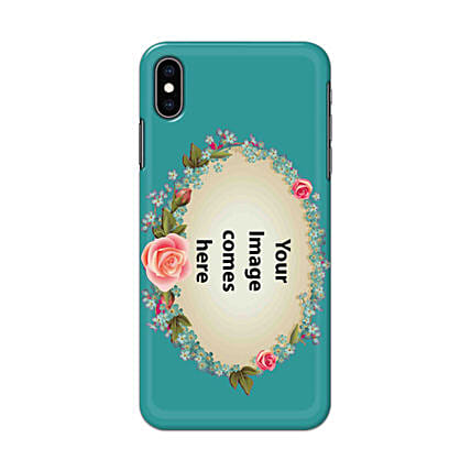 Apple iPhone XS Customised Floral Mobile Case: Personalised Apple Mobile Covers