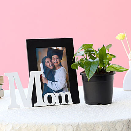 Personalized Mom Frame N Plant: Mothers Day Personalised Gift Combos