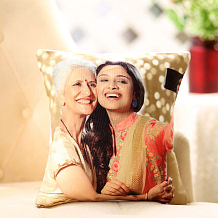 Mom n Me Personalized Cushion: Womens Day Gift for Mother in Law