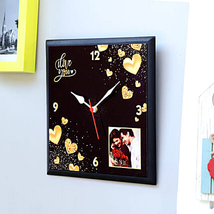 Personalised Love You Wall Clock: Wedding Gifts