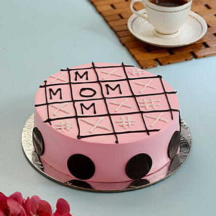 Tic Tac Toe Cake For Mom: