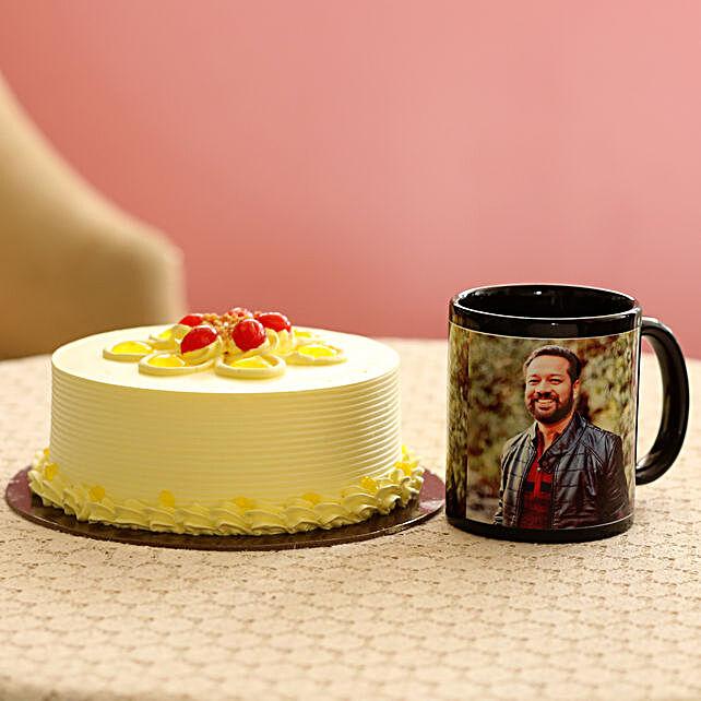 Creamy Butterscotch Cake & Picture Mug Combo: