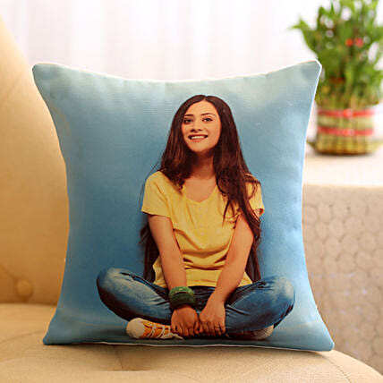 Personalised Cushion For Her: Send Karwa Chauth Personalised Gifts