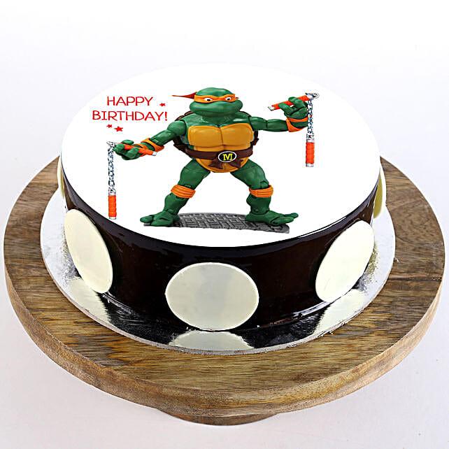 Michaelangelo Chocolate Photo Cake: Superhero Cakes
