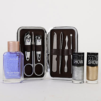 Stylish Nail Care Kit: Cosmetics & Spa Hampers