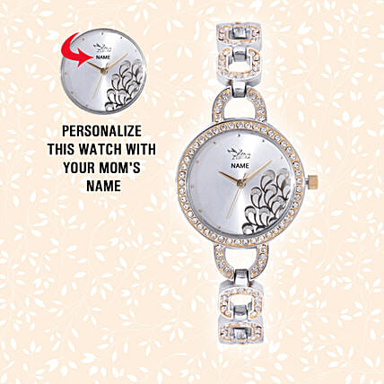Personalised Chic Silver & Golden Watch: Watches