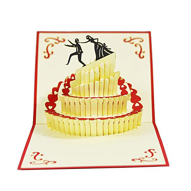 Handmade 3D Pop Up Wedding Cake Card: Funny Gifts