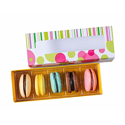 Assorted Box Macaroons- 5 Pcs: Macarons