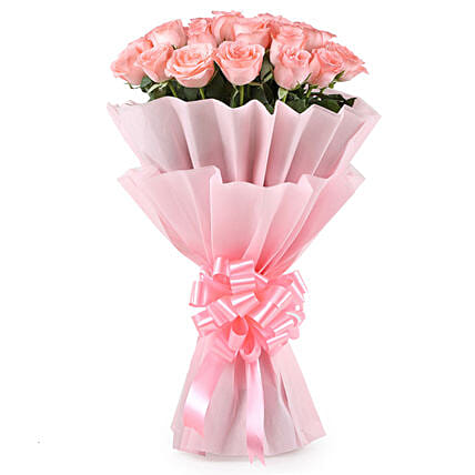 Stylish Pink Roses Bouquet: