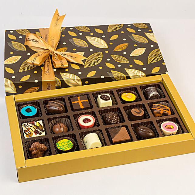 Beautiful Box Of Assorted Chocolates- 18 Pcs: Gifts for Onam