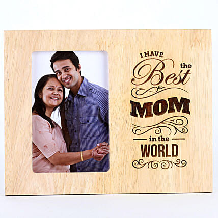 Best Mom In The World Photo Frame: Mothers Day Personalised Engraved