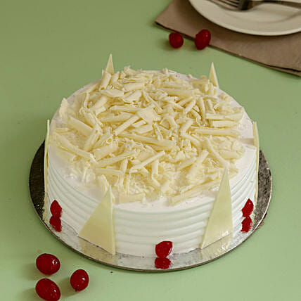 Tempting White Forest Cake: