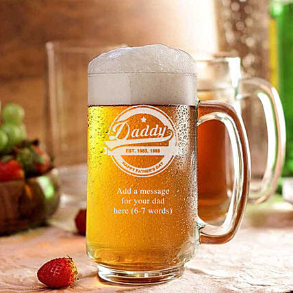 Personalised Beer Mug For Dad: Bar Accessories For Dad