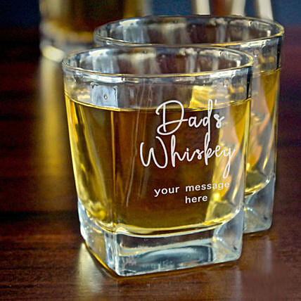 Personalised Whiskey Glasses For Dad: Bar Accessories For Father's Day