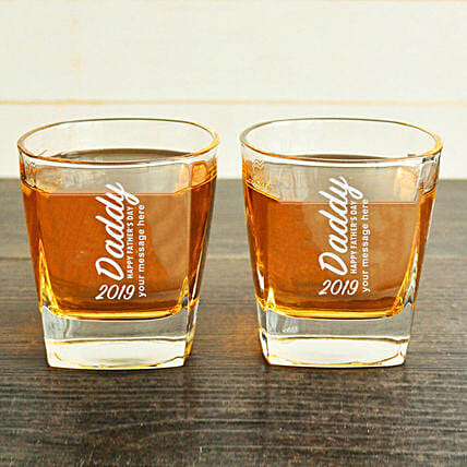 Personalised Whiskey Glasses For Fathers Day: Bar Accessories For Father's Day