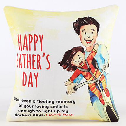 Happy Father's Day Printed Cushion: Fathers Day All Gifts