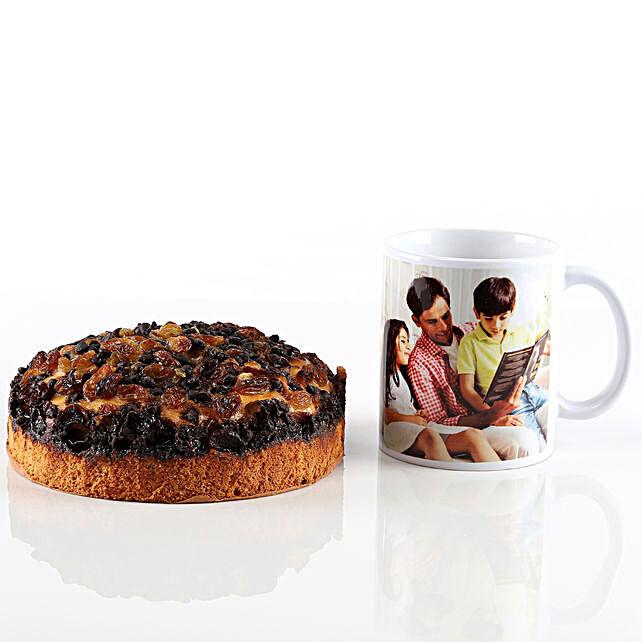 Chocochip Dry Cake & Personalised Mug Combo: Cakes Combo