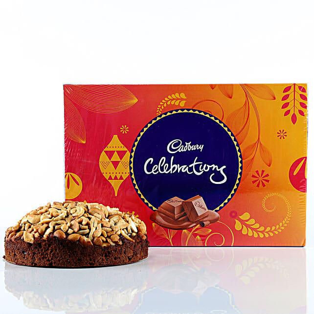 Cashew Cake & Cadbury Celebrations Combo: Cakes Combo