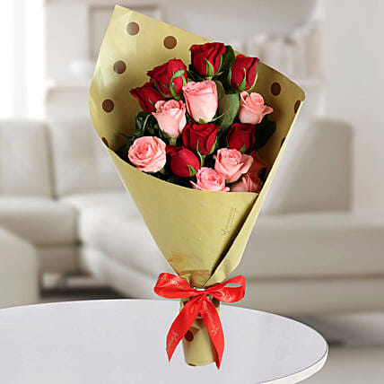Mixed Roses Bunch: Womens Day Gifts for Daughter