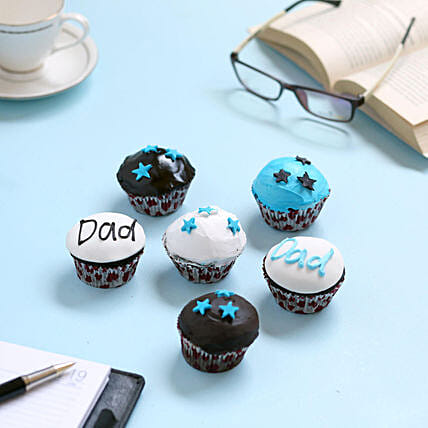 Twinkling Stars Cupcakes for Dad: Send Cup Cakes to Pune