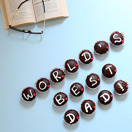 Worlds Best Dad Cupcakes: Eggless Cakes for Fathers Day