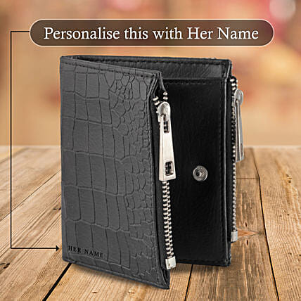 Black Zipper Wallet Pouch: Handbags and Wallets Gifts