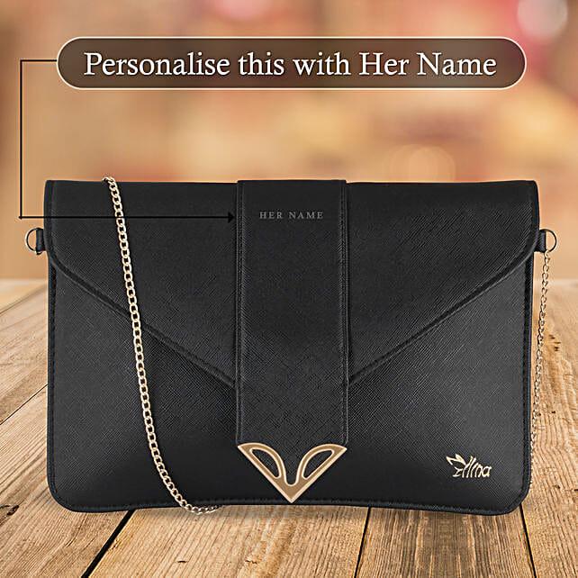 Fashionable Black Sling Bag: Handbags and Wallets Gifts