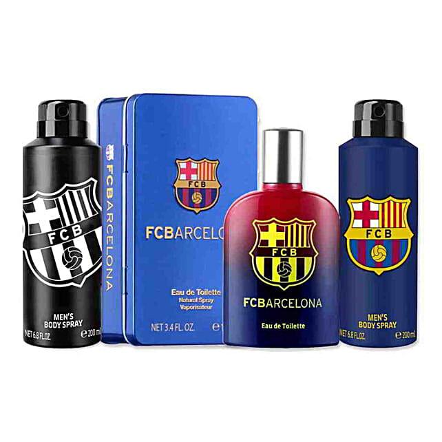 Football Club Barcelona Perfume & Deo Gift Set: Send Perfumes