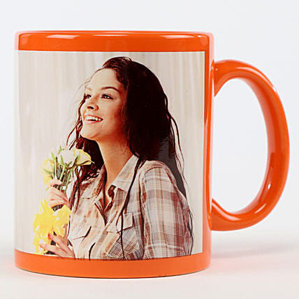 Personalised Orange Coffee Mug: Custom Photo Coffee Mugs