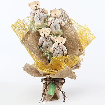 Sweet Teddy Bear Bouquet: Soft Toys Gifts