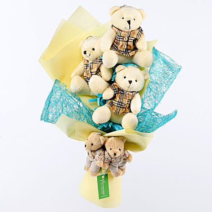 Cuteness Overload Teddy Bouquet: Send Soft Toys