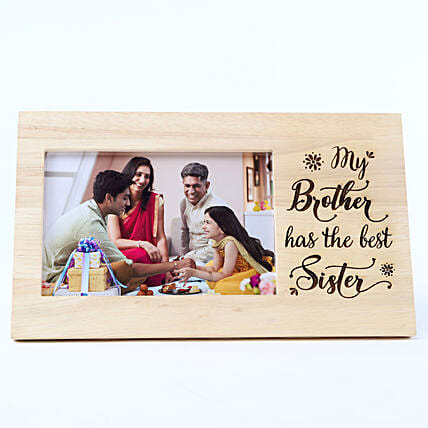 Personalised Best Sister Wooden Frame: Personalised Photo Frames