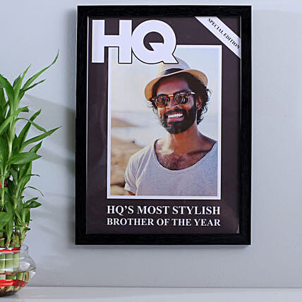 Personalised Most Stylish Brother Frame: Personalised Photo Frames Gifts