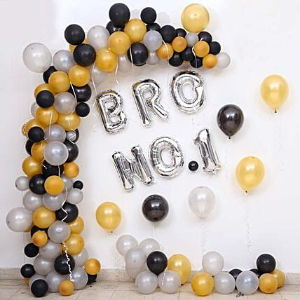 Balloon Decor For Brother No 1: Decoration Services in Bangalore